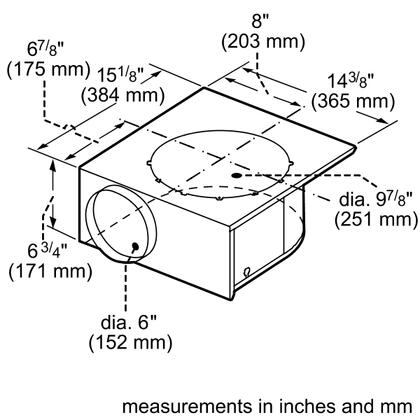 Thermador VTN600CV2C 600 CFM Integral Downdraft Ventilator