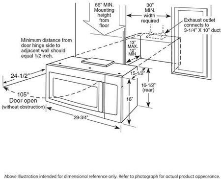 GE Profile PVM9215DKWW 30 Inch Over-the-Range Microwave