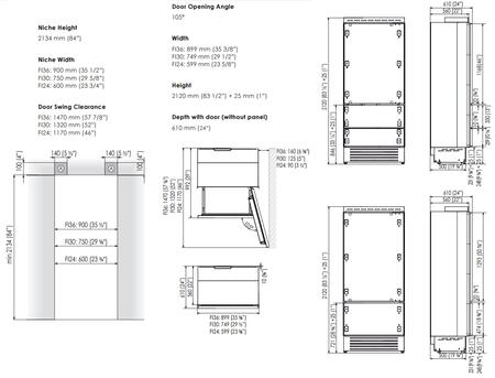 Fhiaba FI36BILO 36 Inch Integrated Series Counter Depth