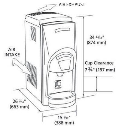 Ice-O-Matic GEMD270A Pearl Ice/Water Dispenser with Air