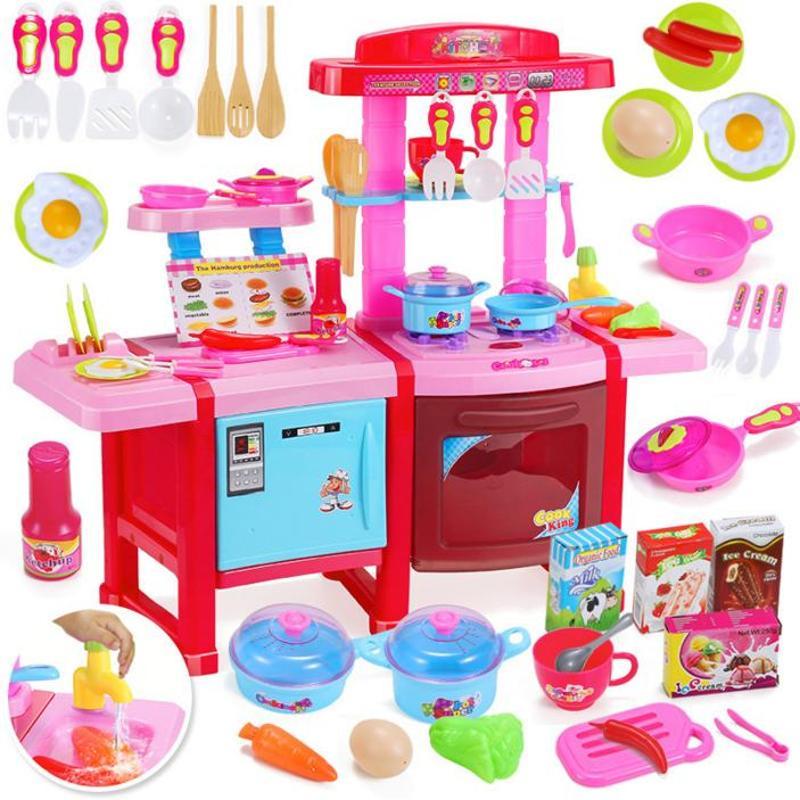 childrens kitchens sinks kitchen 育儿宝儿童厨房玩具套装厨具餐具女孩益智过家家餐台厨台煮饭玩具703 善 育儿宝儿童厨房玩具套装厨具餐具女孩益智过家家餐台