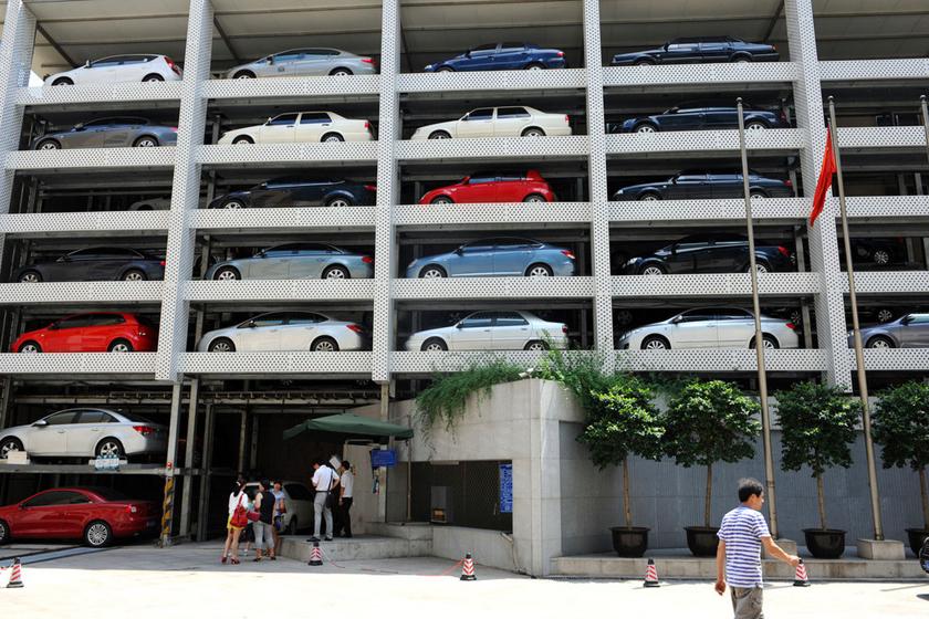 南京建7層立體停車樓 緩解停車難_圖片頻道_財新網