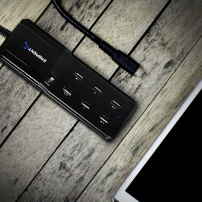 Charge up to 6 USB devices simultaneously from one wall outlet. Simply connect any USB mobile device  such as iPad  iPhone  iPod  Tablet PC  Smartphone  Wireless Hotspots  etc