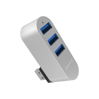 Easily add up to three devices with the Sabrent USB 3.0 Rotatable Hub. Effective for all computers and laptops and particularly those that come with a limited number of ports.