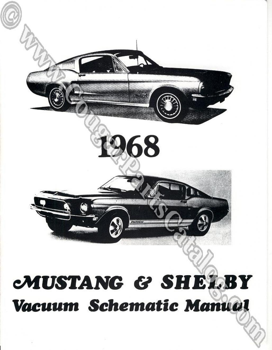 hight resolution of manual vacuum schematic w cougar headlight schematic repro 1968 mercury cougar 1968 ford mustang shelby 1968 mercury cougar 1968 ford