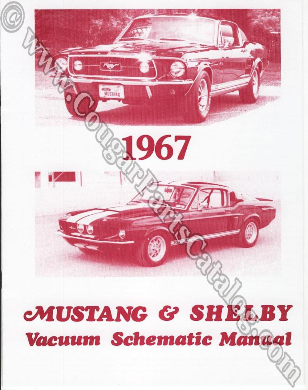 medium resolution of vacuum schematic manual repro 1967 mercury cougar 1967 ford mustang shelby