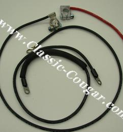 battery cables standard draw concours correct repro 1967 mercury cougar 1967 [ 1028 x 771 Pixel ]