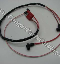 wire assembly dash to engine gauge feed 390 427 428cj repro 1967 1968 mercury cougar 1967 1968 ford mustang 1967 mercury cougar  [ 1028 x 771 Pixel ]