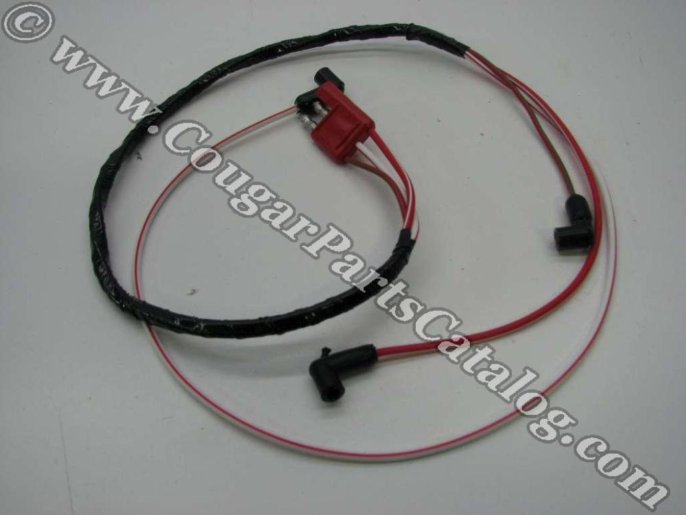 medium resolution of wire assembly dash to engine gauge feed 390 427 428cj repro 1967 1968 mercury cougar 1967 1968 ford mustang 1967 mercury cougar