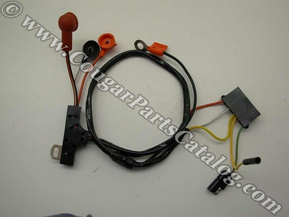 medium resolution of alternator wiring harness w o gauges economy repro 1972 1968 mustang wiring diagram 1969 cougar wiring harness