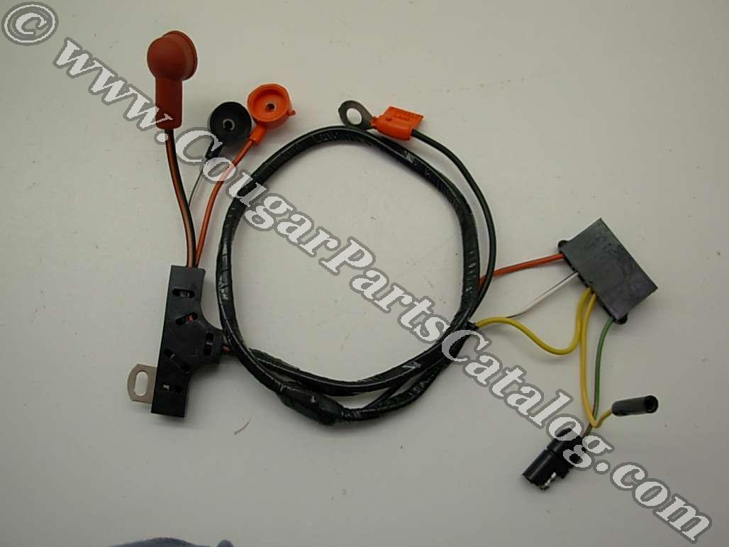 hight resolution of alternator wiring harness w o gauges economy repro fits 1972 1973 mercury cougar 1972 1973 ford mustang ford ford mustang alternator to voltage regulator