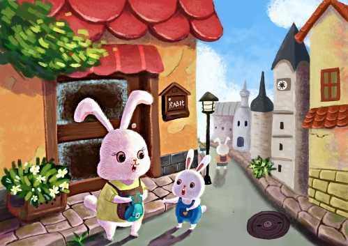 小兔子和兔子媽媽 兔子媽媽對小兔子深深的愛 - 大慶娛樂網