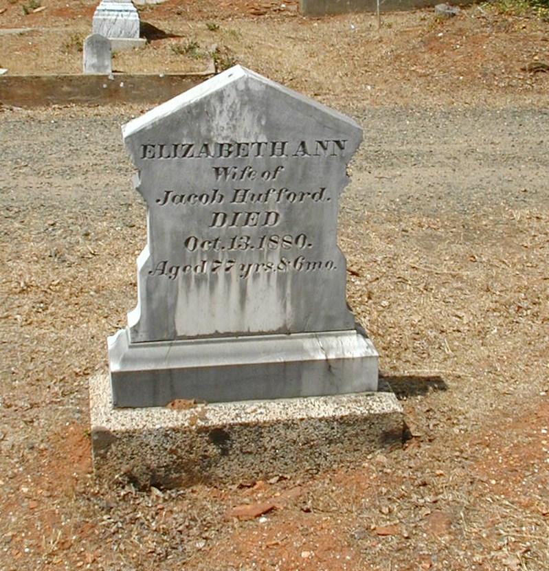 Elizabeth's gravestone