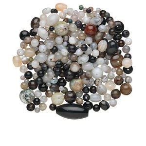 Bead Mix, Agate (natural / Dyed), Mixed Colors, 4mm-26x15mm Mixed Shape, C Grade, Mohs Hardness 6-1/2 7. Sold Per 1/4 Pound Pkg, Approximately 170-300 Beads