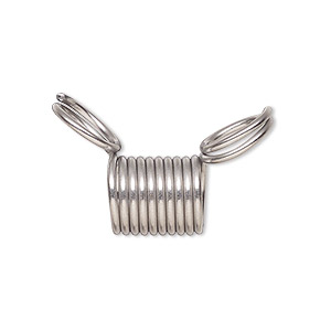 Beading supply, Bead Stopper™, stainless steel, 12mm. Sold