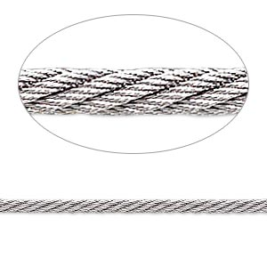 Beading wire, Accu-Flex® twisted cable wire, stainless