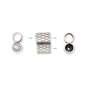 Clasp, JBB Findings, slide, antique silver-plated brass