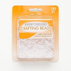 Bead Mix, Acrylic, Clear, 13x13mm-18x18mm Paddle Wheel. Sold Per Pkg 140