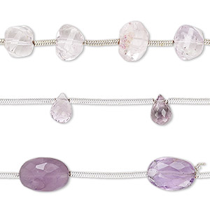 Bead Mix, Amethyst Lavender Amethyst (natural / Dyed), 7x4mm-10x8mm Hand-cut Mixed Shape, B Grade, Mohs Hardness 7. Sold Per Pkg (3) 6-inch Strands