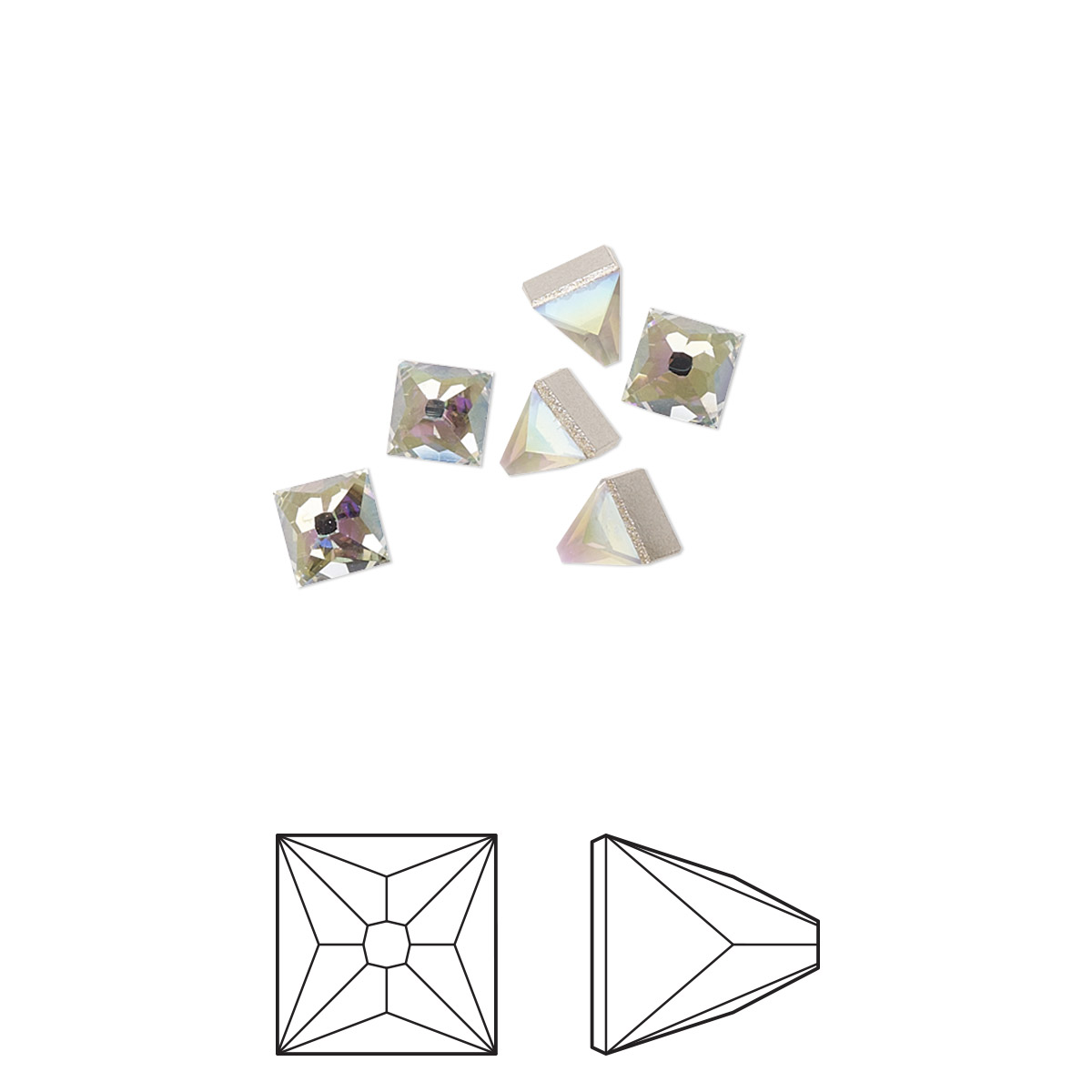 Flat Back Swarovski Crystal Rhinestone Black Diamond