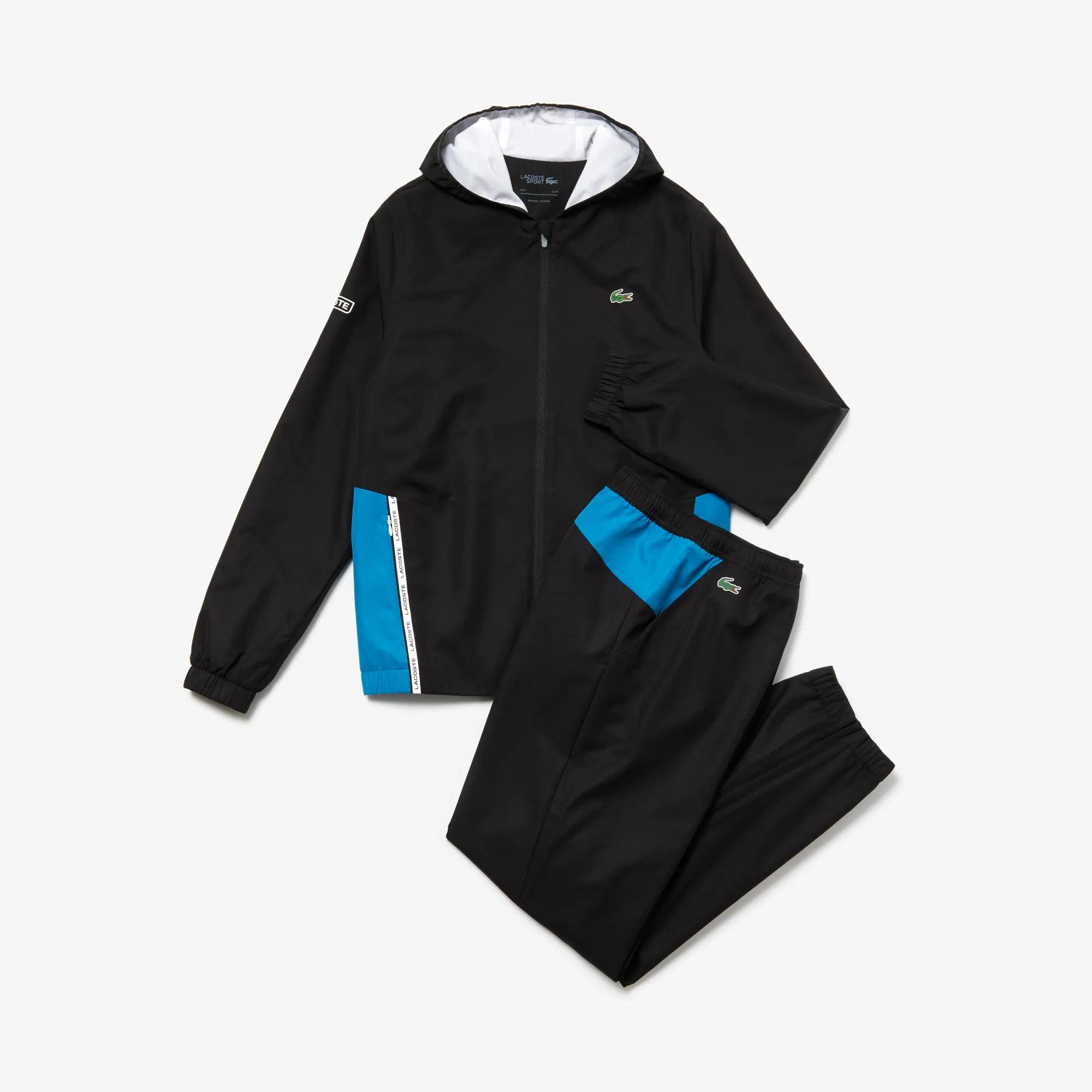online retailer 88f55 11d84 Lacoste Trainingsanzug Schwarz Weiß