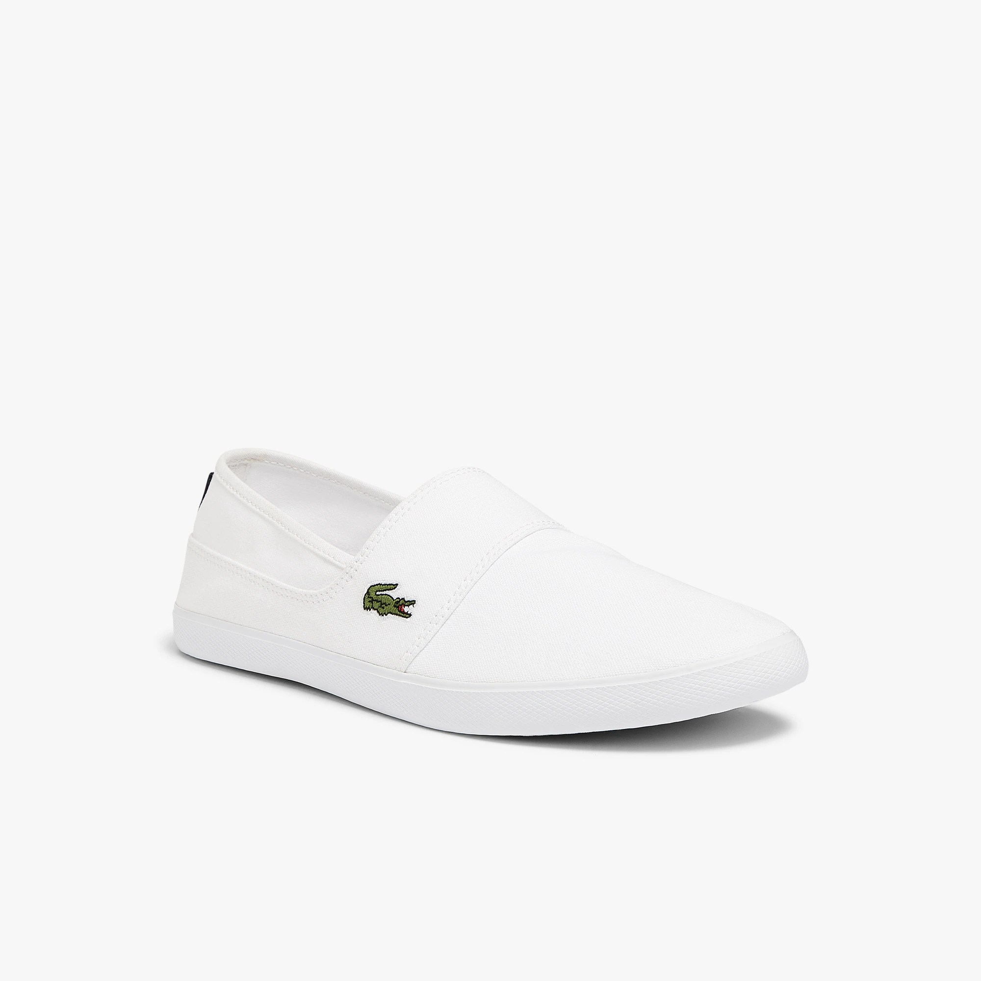 White Canvas Slip On Shoes Cheap
