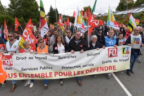 Grève des fonctionnaires : près de 600 personnes dans les rues de Guéret