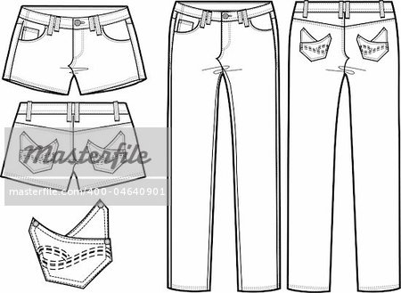 Trouser Technical Coloring Pages