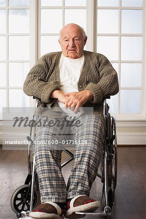 wheelchair man spandex chair cover rentals portrait of senior in stock photo masterfile