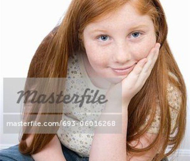 Teenage Girl Learning Stock Photo