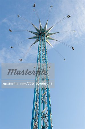 chair swing vienna stands test looking up at a tall o plane ride prater austria stock photo