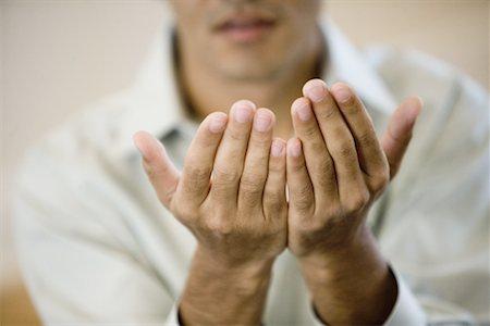 muslim cupping hands stock