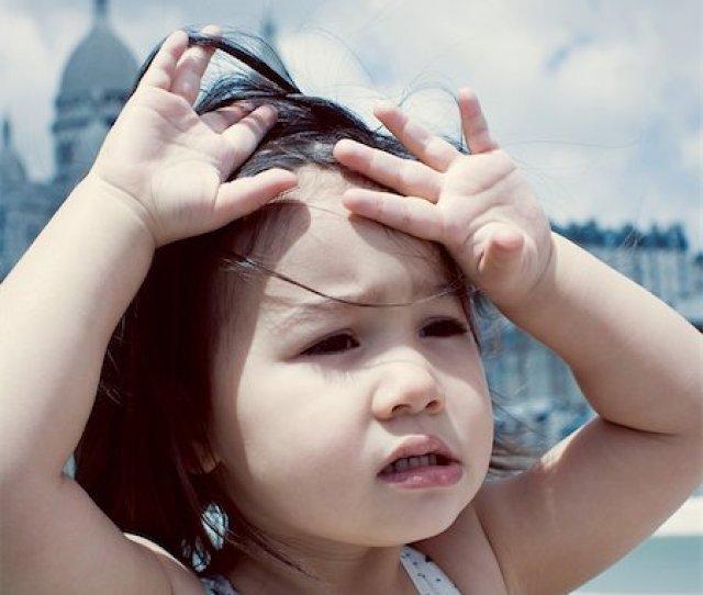 Little Girl Feeling Hot Under Sun Stock Photo Premium Royalty Free Code