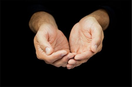 religious cupped hands stock
