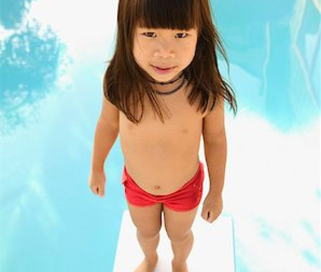 A Young Girl On A Diving Board Stock Photo Premium Royalty Free