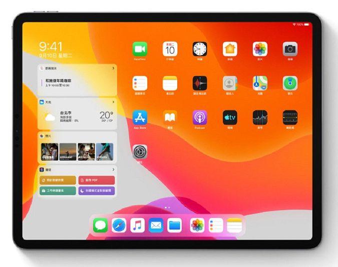 更加一目了然的桌面,完全有別於iPhone小螢幕的切版(圖片來源:蘋果官網)