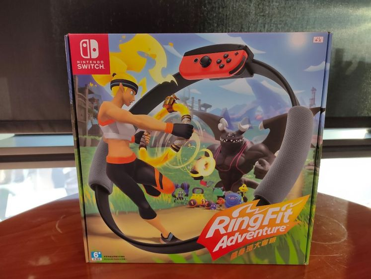 Nintendo Switch「健身環大冒險」外盒正面