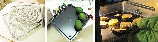 隨附烤網3枚+接油盤1枚,使用前要記得先清潔