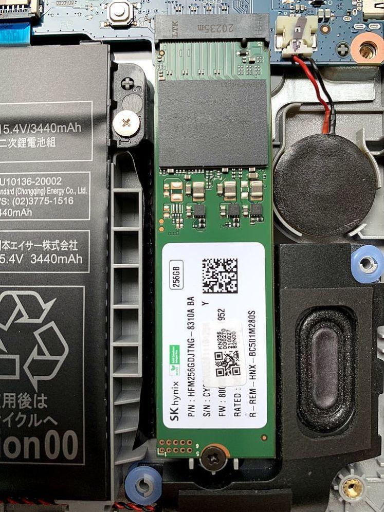 實際插入一條SSD測試