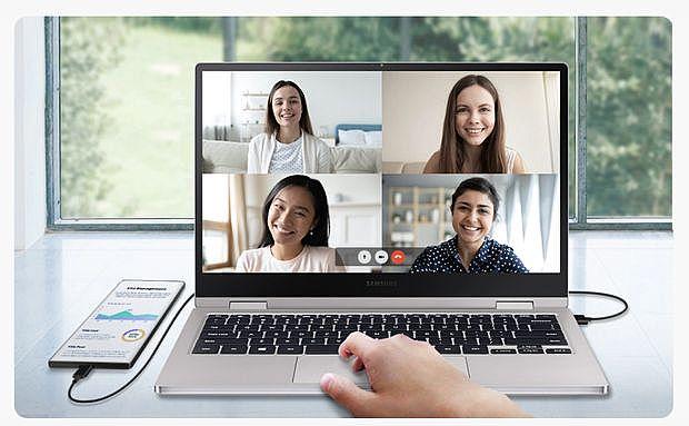 電腦使用Samsung DeX,手機變身第二螢幕