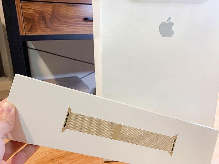 更換蘋果40mm金色不鏽鋼米蘭式錶帶
