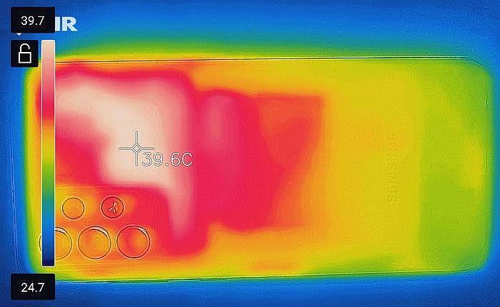 Free Heater(連跑 1hr)背面最高溫 39.7℃