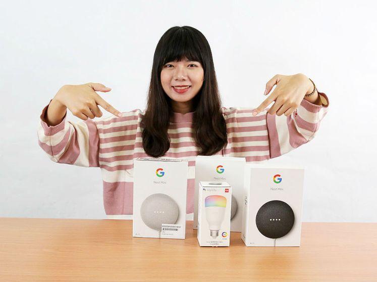 可以開始聲控Nest Mini,只要喊出:OK Google!