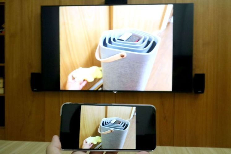 Chromcast可與手機相簿同步投放