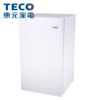 【TECO東元】99公升單門小鮮綠冰箱 R1091W