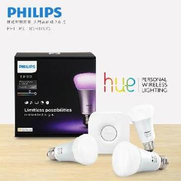 【飛利浦 PHILIPS】連網智慧照明 10W HUE 2.0版 入門系統組