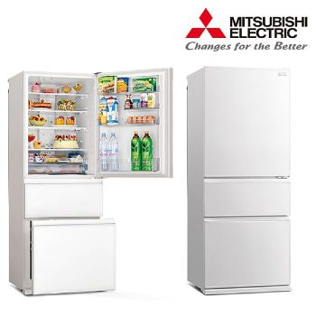 MITSUBISH 三菱 三門450L一級能變頻玻璃鏡面冰箱 MR-CGX45EP