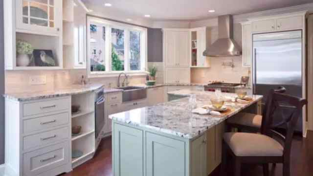 used kitchen countertops building your own cabinets 五种常见的厨房台面材料大pk 装修plus 梨视频官网 pear video