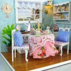 Tiny House Kitchens Mid Century Kitchen Table Diy创意小房子 明亮的开放式厨房 小玫手工 梨视频官网 Pear Video 迷你娃娃屋 幸福温馨的开放式厨房