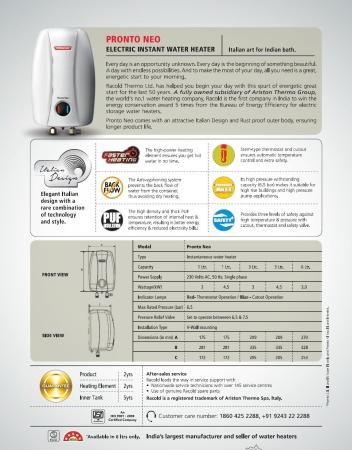 racold water heater wiring diagram pert network reflect what type of precedence 1 l instant geyser white pronto neo price in india with offers full specifications pricedekho com